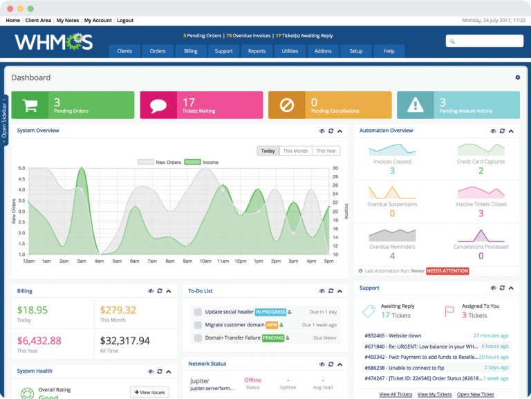Automate your hosting business with WHMCS 1